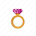 accessories, diamond, fashion, gem, golden, ring, ruby icon