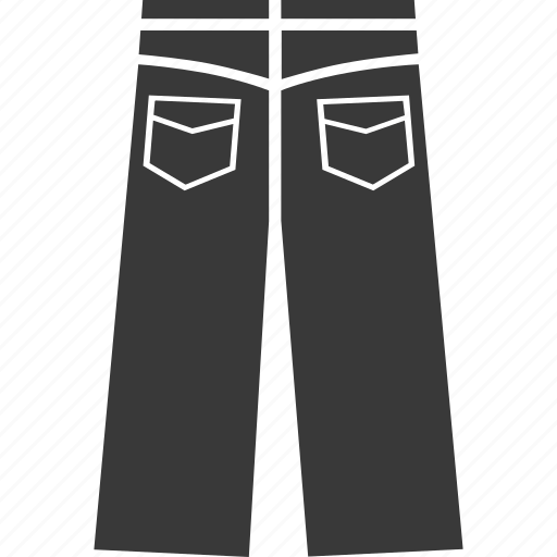 clothes, clothing, jeans, pants, slacks, womens clothing icon