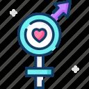 female, gender, male, sex icon