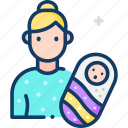 avatar, baby, maternity, mother, woman icon