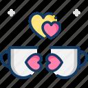 coffee, coffee breaks, coffee cup, love, tea cup icon