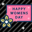 celebration, flower, womens day icon