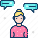 chat, gender, woman icon