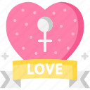 female, feminism, gender, love, march icon