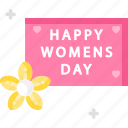 celebration, flower, womens day icon
