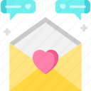 chat, feedback, love, mail icon