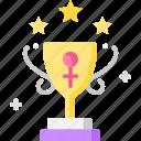 achievement, award, champion, trophy, woman