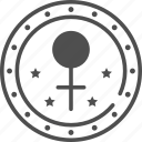 female symbol, sign, stamp, woman icon