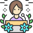 conference, podium, speech icon