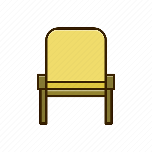 chair, furniture, wooden icon