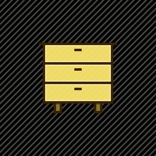 desk, drawer, furniture icon