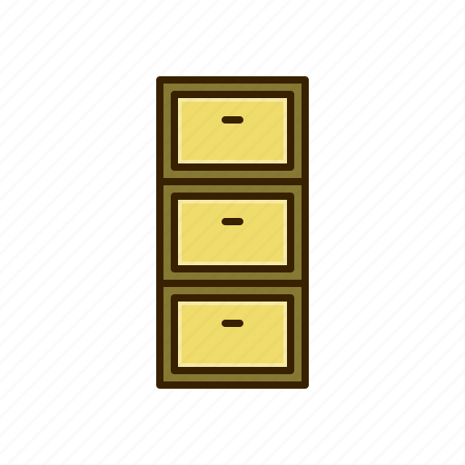 drawer, furniture, office icon