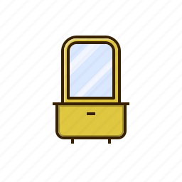 dressing, furniture, home, mirror, table icon