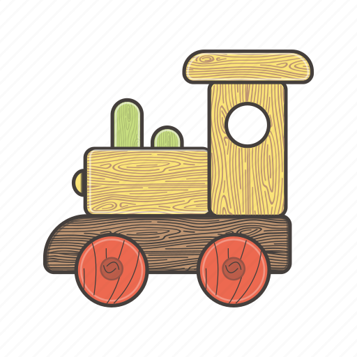 child, kindergarten, rail, toys, train, transport, wooden icon