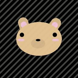 animal, bear, creature, cute, forest, kawaii, woodland icon