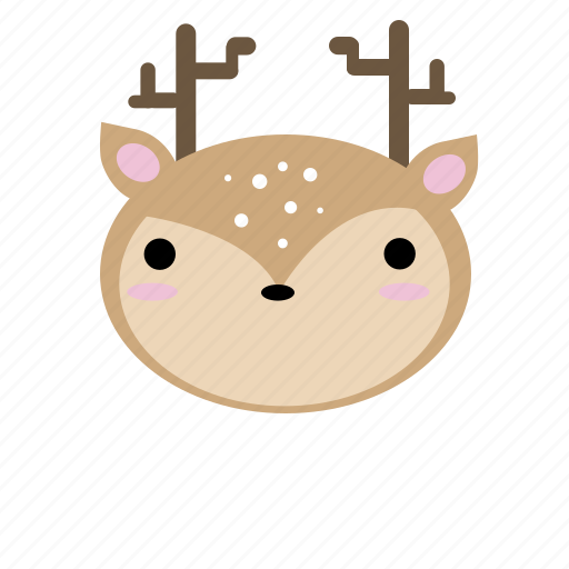 animal, creature, cute, fawn, forest, kawaii, woodland icon