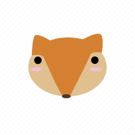 animal, cute, forest, fox, kawaii, woodland icon