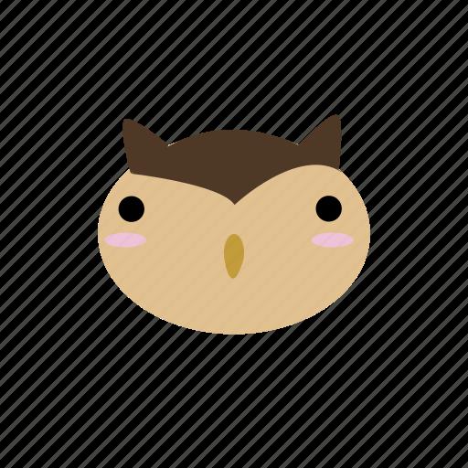 animal, cute, forest, kawaii, owl, woodland icon