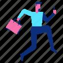 avatar, customer, man, run, shopping icon