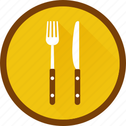 eat, eating, fork, kitchen, knife, plate icon