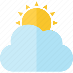 climate, cloud, forecast, partly sunny, season, sun, weather icon