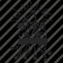 team, success, teamwork, trophy icon