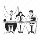 team, teamwork, employees, collegues, desk, work