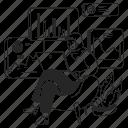 analyze, data, graphs, work, charts icon