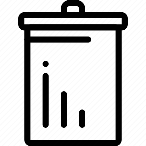 basket, cart, dirt, garbage, trash icon
