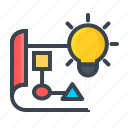 framework, idea, paper, work, work flow icon