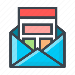email, email marketing, news, newsletter, work icon