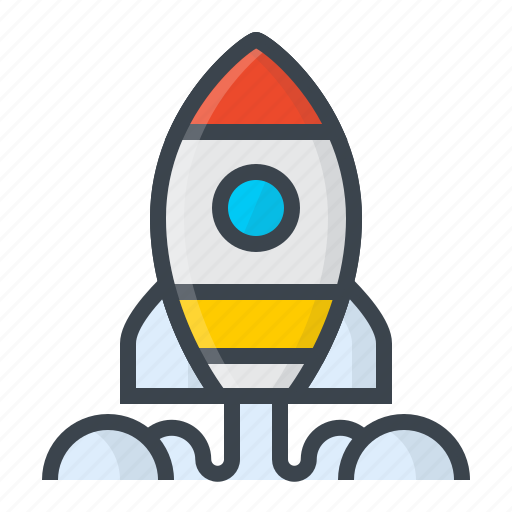 code, developer, development, idea, rocket, startup, work icon