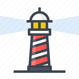 business, goal, light, lighthouse, vision, work icon
