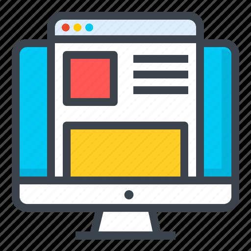 design, desktop, develop, macbook, responsive, website, work icon