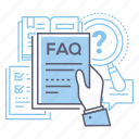 faq, help, information, questions icon