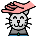 cat, cute, kitten, pet, playingwithpet, play with pet icon