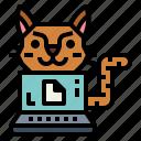 cat, cloud, drive, laptop, pet, storage, work