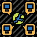 cloud, drive, global, globe, internet, storage, work