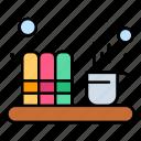 coffee, document, file, tea