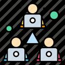 meeting, online, sharing, team, work