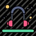 earphone, headset, music, relax