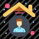 employee, home, house, indoors, quarantine icon