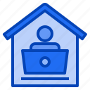 home, from, work, office, stay, at, workplace icon