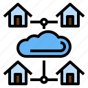 at, cloud, connection, home, office, tranmit, work