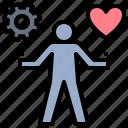 balance, happiness, life, management, work icon