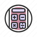 business, calculator, office, work icon