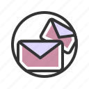 business, letter, mail, office, work icon