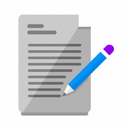 briefing, creative process, document, file, project, word, write icon