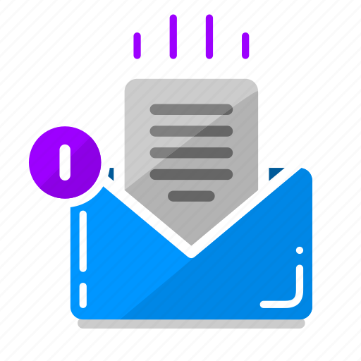 email, email inbox, message, new email, new message, notification, work icon