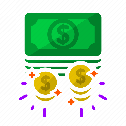 cash, coin, dollar, money, pay day, payment, work icon